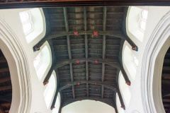 The chancel wooden roof