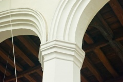 Simple 15th century nave arches and capitals