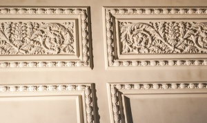 Intricate plasterwork ceiling decoration