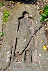 Medieval grave slab inside the chapel