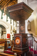 17th century pulpit and tester