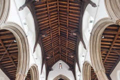 The nave hammer beam roof