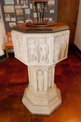 All Saints font (now in St Julian's)