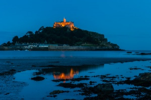 St Michael's Mount at night