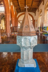 15th century octagoonal font