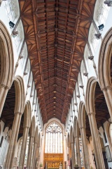 The nave and timber roof