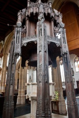 The 15th century font canopy