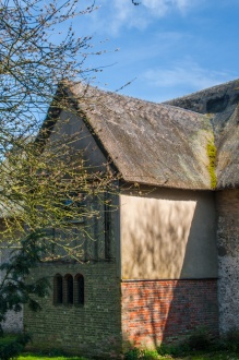 The thatched north transept
