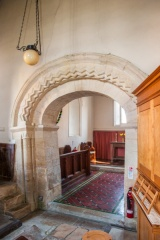 The 12th century chancel arch