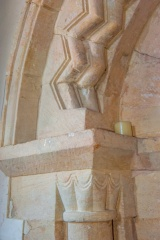 Chancel arch capital and arch moulding