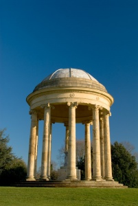 Stowe Gardens - The Rotunda, with a gilded statue of Venus