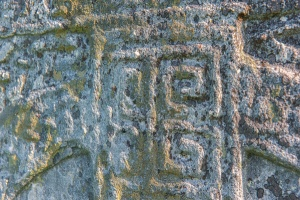 Decorated panel on the Farr Stone