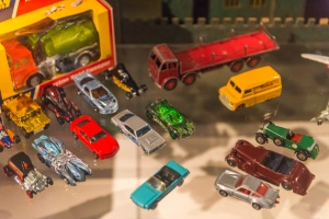 Generations of toy cars