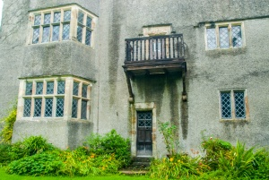 George Fox is said to have preached from this first floor balcony to a crowd in the garden below.