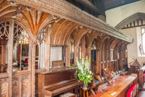 The medieval rood screen