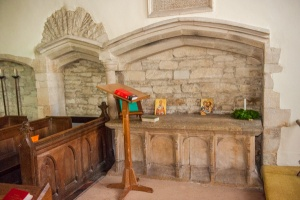 Late medieval altar tomb, chancel