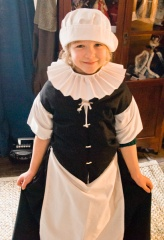 Dressing up in Tudor costume