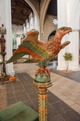 Carved and painted lectern