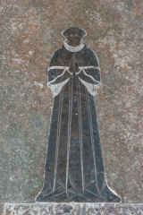 15th c Robert Wydow brass