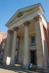 The neo-classical portico