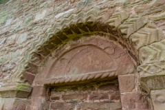 Norman doorway arch and tympanum