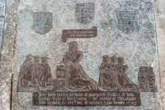 Memorial brass to Margaret of Inverary