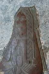 15th century brass of a woman