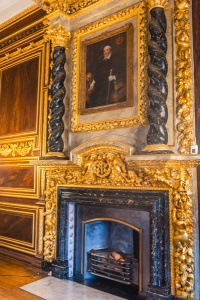 Ornate fireplace in Tredegar House