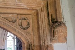 15th century north doorway and headstop