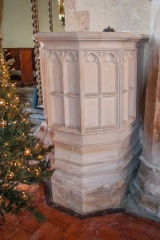 15th century stone pulpit