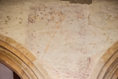 14th century wall painting, nave arcade