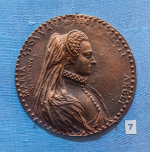 Mary, Queen of Scots medallion in the museum