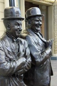 Laurel and Hardy statues (c) Peter Turner
