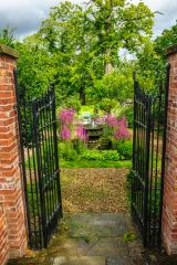 Entering the gatehouse garden