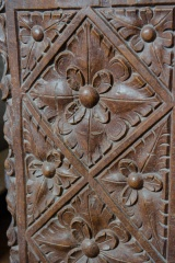 15th century bench end