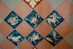 Zodiac floor tiles, chancel