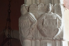 Angels and shields, nave capital