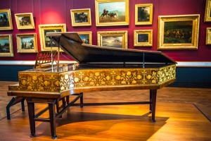 Victorian piano by Edward Burne-Jones
