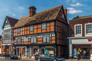 Timber-framed building in the market place