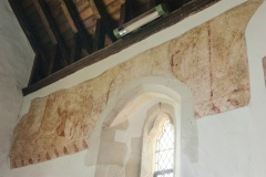 15th century wall painting in the chancel
