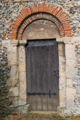 Roman bricks in tower doorway