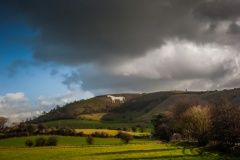 Stormy skies over the White Horse