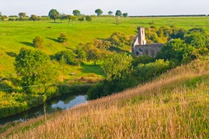 Wharram Percy from The Wold's Way