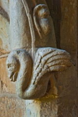 Swan carving on the niche