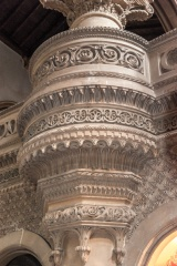 Decorated nave column