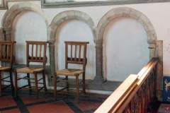 14th century sedilia in the chancel