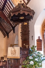 The 17th century pulpit and tester