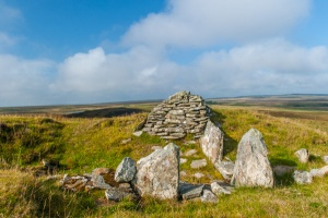 Chambered cairn on the Yarrows Archaeological Trail