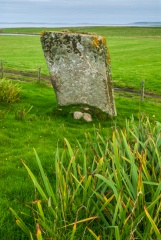 Approaching the standing stone
