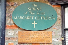 Margaret Clitherow's house sign